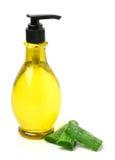 Gel bottle and aloe vera Royalty Free Stock Image