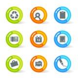Gel-Büro-Ikonen (Vektor) Lizenzfreies Stockfoto