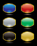 Gel bulge. Collection of six gel filled buttons for the internet Stock Photos