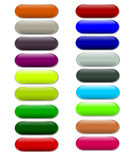 Gel buttons Royalty Free Stock Images