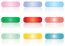 Gel buttons - vector Stock Images