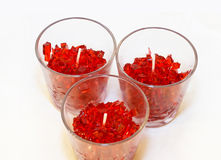 Gel candles royalty free stock photography