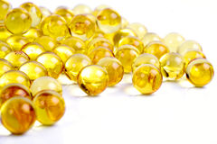 Gel capsule vitamins and minerals Stock Photo