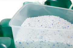 Gel capsules and washing powder Stock Images