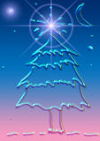Gel Christmas. Computer generated (illustration) Christmas tree, made of transparent gel Stock Images