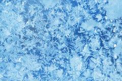 Gel de glace d'hiver, fond congelé textur givré de verre de fenêtre Images stock