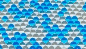 Gel de polymère Boules de gel boules d'hydrogel bleu et transparent, Image libre de droits