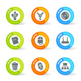 Gel Device Icons (vector). Stylish colorful gel Icons with device symbols; easy edit layered files Royalty Free Stock Photography