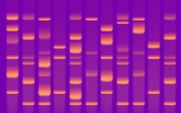 Gel di sequenza del DNA fotografia stock