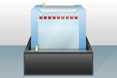 Gel electrophoresis device  illustration Royalty Free Stock Images