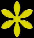 Gel giallo rosso magenta del fiore Fotografia Stock Libera da Diritti