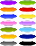 Gel or Glass Oval Buttons. Set of professionally designed oval or oblong buttons in various color choices in Gel or Glass style. Pls check my other menu buttons Royalty Free Stock Photos