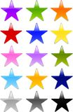 Gel or Glass Star Shape Buttons. Set of professionally designed star shape buttons in various color choices in Gel or Glass style. Pls check my other menu Royalty Free Stock Image