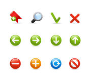 Gel Icon Set -  1 /  Navigation Royalty Free Stock Photo