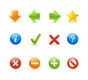 Gel Icon Set -  2 /  Navigation Stock Photos
