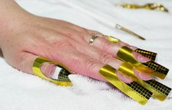 Gel-Nagel-Unterseiten-Mantel Lizenzfreies Stockfoto
