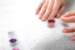Gel nail extensions Stock Photography