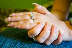 Gel nails Royalty Free Stock Images