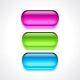 Gel neon buttons. Gel neon web buttons set Stock Photo