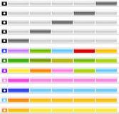 Gel-oder Glas-Menü-Tasten stockbilder