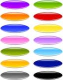 Gel ou boutons ovales en verre Photos libres de droits