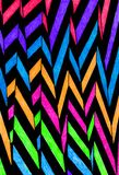 Colourful hand drawn zigzag pattern. Royalty Free Stock Photo