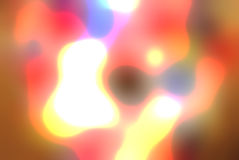 Gel rougeoyant abstrait, fond liquide Photos libres de droits