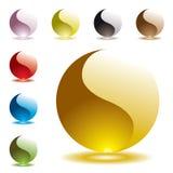 Gel round half glow vector illustration
