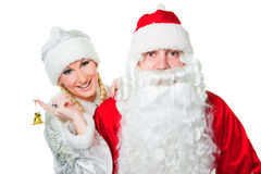 Gel russe de père et fille de neige Image stock