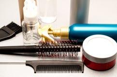 Gel und Balsame für Haarbehandlung Lizenzfreie Stockfotos