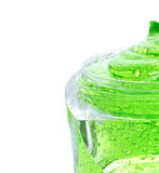 Gel verde della stazione termale in barattolo Immagine Stock