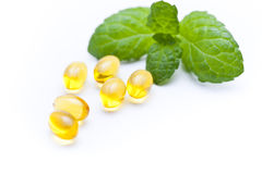 Gel vitamin capsules Royalty Free Stock Photography