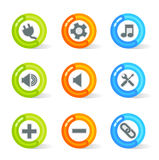 Gel Web Icons (vector). Stylish colorful gel Icons with web symbols; easy edit layered files Royalty Free Stock Photos
