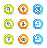 Gel Web Icons (vector). Stylish colorful gel Icons with web symbols; easy edit layered files