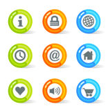 Gel Web Icons (vector). Stylish colorful gel Icons with web symbols; easy edit layered files Stock Photos