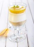 Gelaagd dessert stock foto's