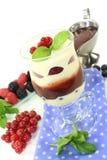 Gelaagd dessert stock foto