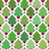 Gelaagde Kerstboom Naadloze Achtergrond Royalty-vrije Stock Afbeelding