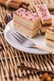 Gelaagde minicakes Royalty-vrije Stock Foto's