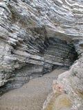 Gelaagde rotsen Stock Fotografie