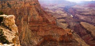 Gelaagde rotsen van Grand Canyon Stock Foto