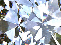 Gelaagde van het textuur driehoekige diamant of kristal vormenachtergrond 3d teruggevend model Royalty-vrije Stock Fotografie