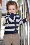 3 gelaatsuitdrukking van de éénjarigenjongen Royalty-vrije Stock Afbeeldingen