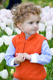 3 gelaatsuitdrukking van de éénjarigenjongen Royalty-vrije Stock Foto's