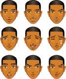 Gelaatsuitdrukking van de mens (Afrikaanse Afdaling) royalty-vrije illustratie