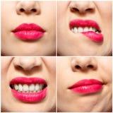 Gelaatsuitdrukkingen van de Jonge Close-up van de Roodharigevrouw royalty-vrije stock foto