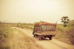 Geladen vrachtwagen Royalty-vrije Stock Afbeeldingen
