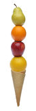 Gelado colorido das frutas frescas imagens de stock royalty free