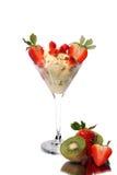 Gelado com frutas Imagens de Stock