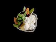 Gelado com frutas Imagem de Stock Royalty Free